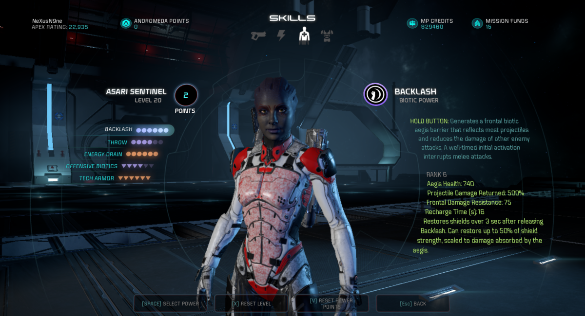 Tech Goddess - Asari Sentinel Build